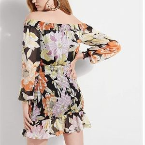 GUESS Gabby floral print Off The Shoulder Dress